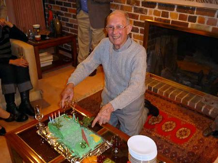 Errol and cake, at his 90th.